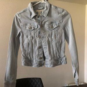 H&M light blue jean denim jacket